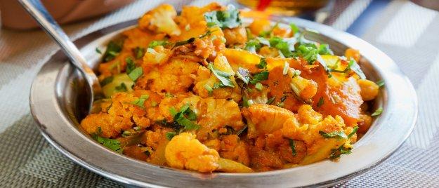 Indian Cooking: Aloo Ghobi, Daal and Basmati Rice